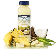 Smoothie: Ananas+Kokos+Bananen